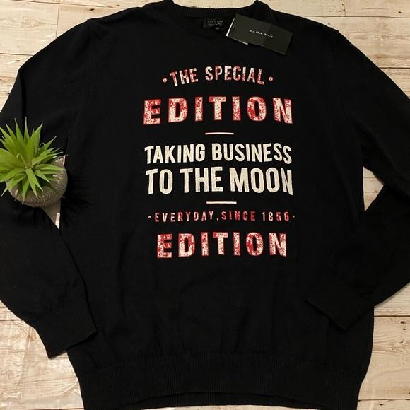 "Zara Other - Zara sweater ""taking business to the moon"""